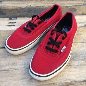 VANS Red Chili Canvas Casual Skate Shoes